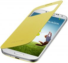 Чехол S View Cover для Samsung Galaxy S4 (i9500) - Yellow
