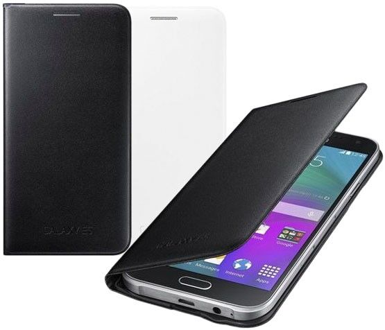 Купить Чехол Flip Wallet для Samsung Galaxy E5 (E500) EF-WE500BBEGRU на wookie.com.ua
