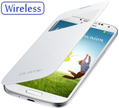 Чехол S View Cover Wireless для Samsung Galaxy S4 (i9500) - White