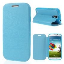 Чехол Deexe Wood Grain для Samsung Galaxy S4 (i9500) - Blue